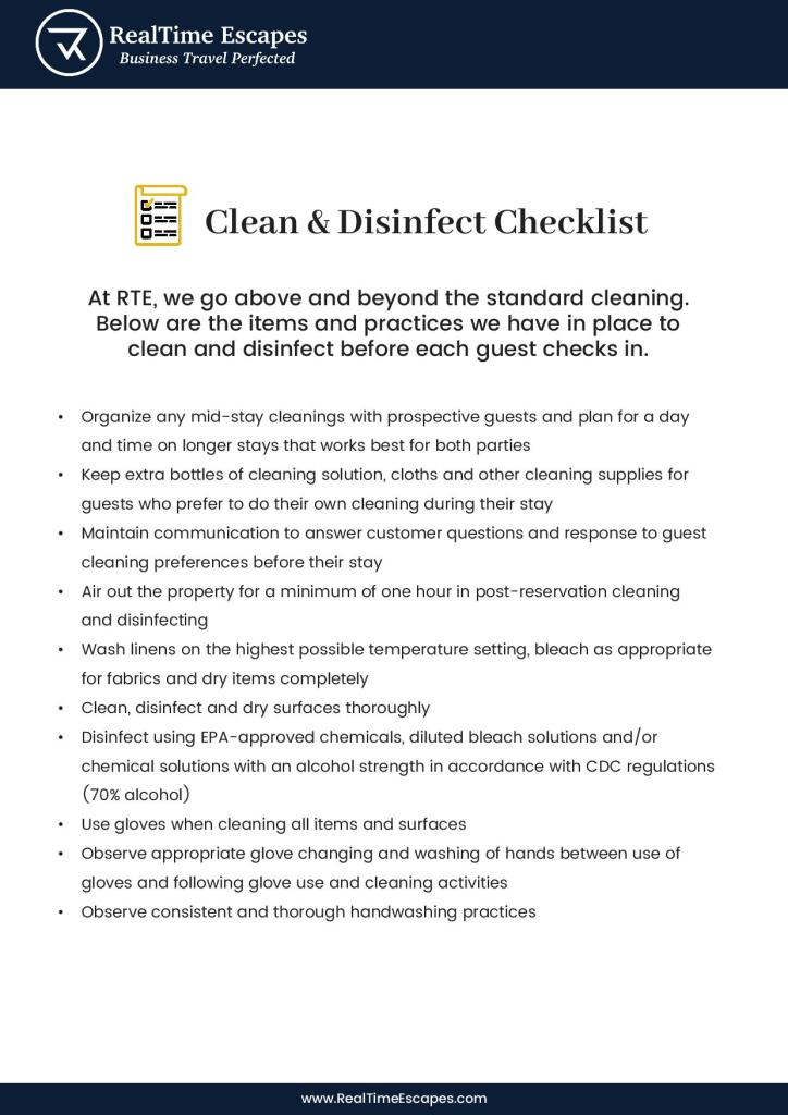 Clean and disinfect checklist page 1