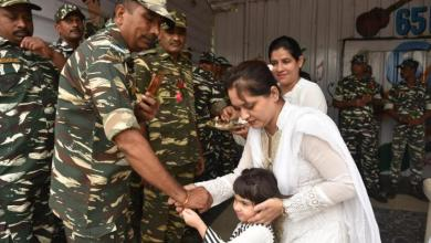 Kids College, School children, CRPF celebrated with seals, Rakhi and Independence Day,