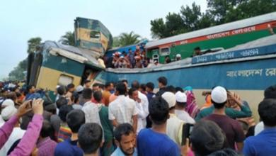 Bangladesh, Severe rail accident, 15 deaths,