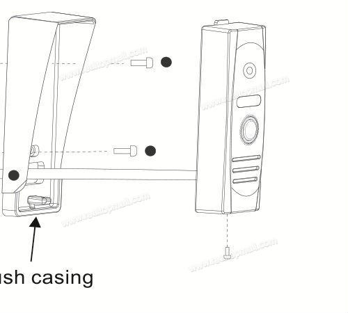 Wired Doorbell Camera Door phone Intercom Infrared Night