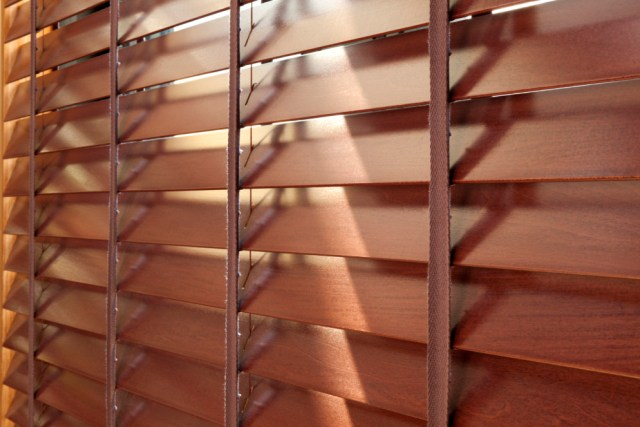 Wooden blinds are ideal for pet owners.