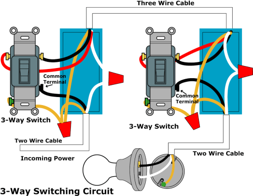 small resolution of three switch wiring diagram power from switch