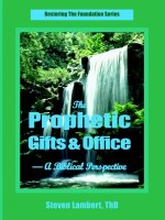 The Prophetic Gifts & Office, by Dr. Steven Lambert