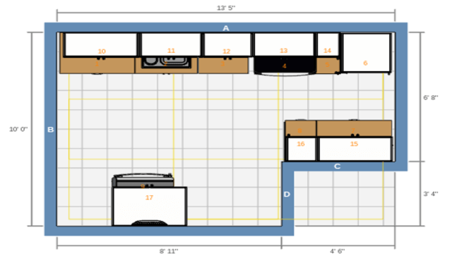 KitchenUpdateAptAFloorDiagram