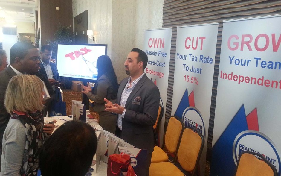Our bootth was very busy with people intersted in learning how to start their own real estate brokerage