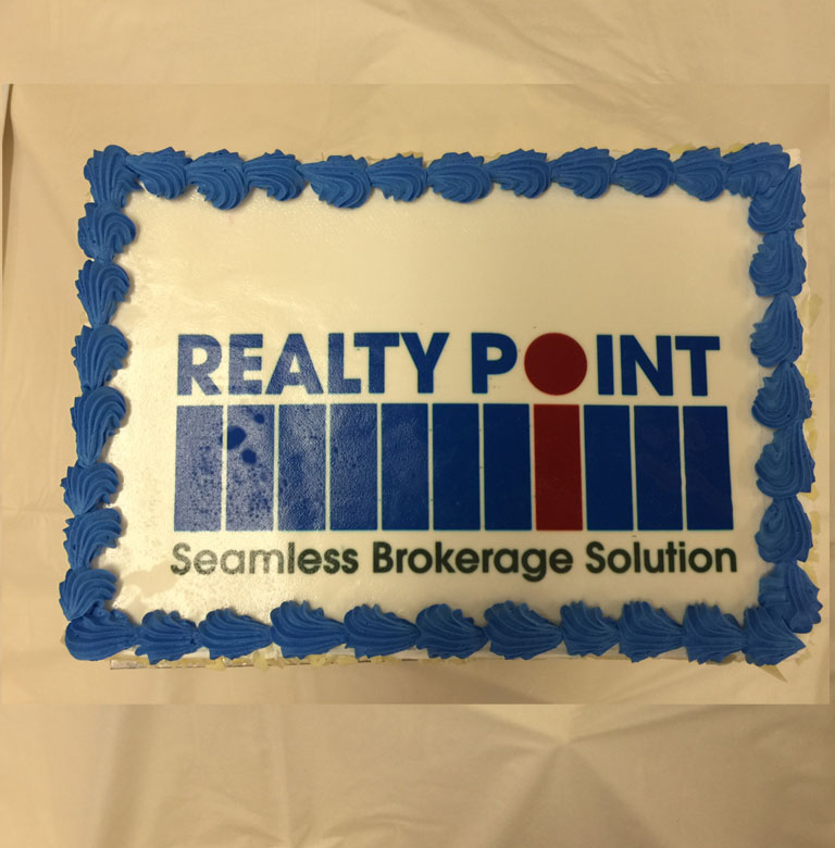 Realty Point party cake