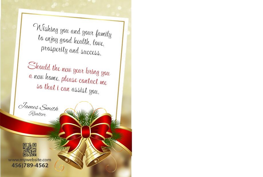 Real Estate Christmas Postcards Tag Realtor Christmas