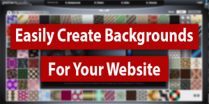 Easily Create patterned backgrounds for your website