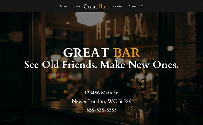 Web Design Tutorial: How To Make A Small Business Website HomePage Bar or Restaurant example.