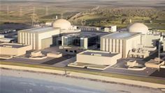 An artist's impression of Hinkley Point C nuclear plant