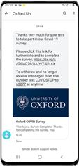 Covid-19 Oxford University Mobile Survey