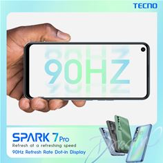 SPARK 7 Pro refresh at a refreshing speed 90Hz Refresh Rate Dot-in Display