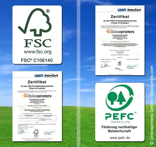 The responsible wood forest certification scheme and the new zealand forest certification scheme are two of some 39 national schemes endorsed by the. Onlineprinters Gmbh Certified With Fsc And Pefc Eco Labels