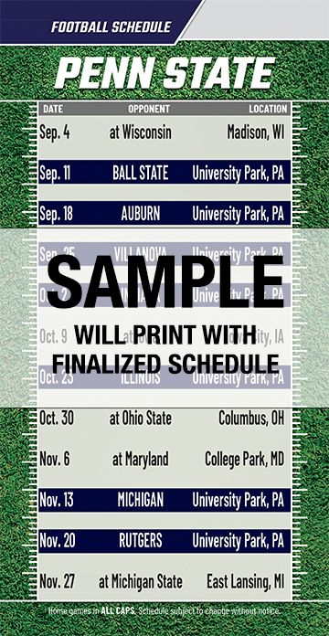 The Best Penn State Football Schedule Printable