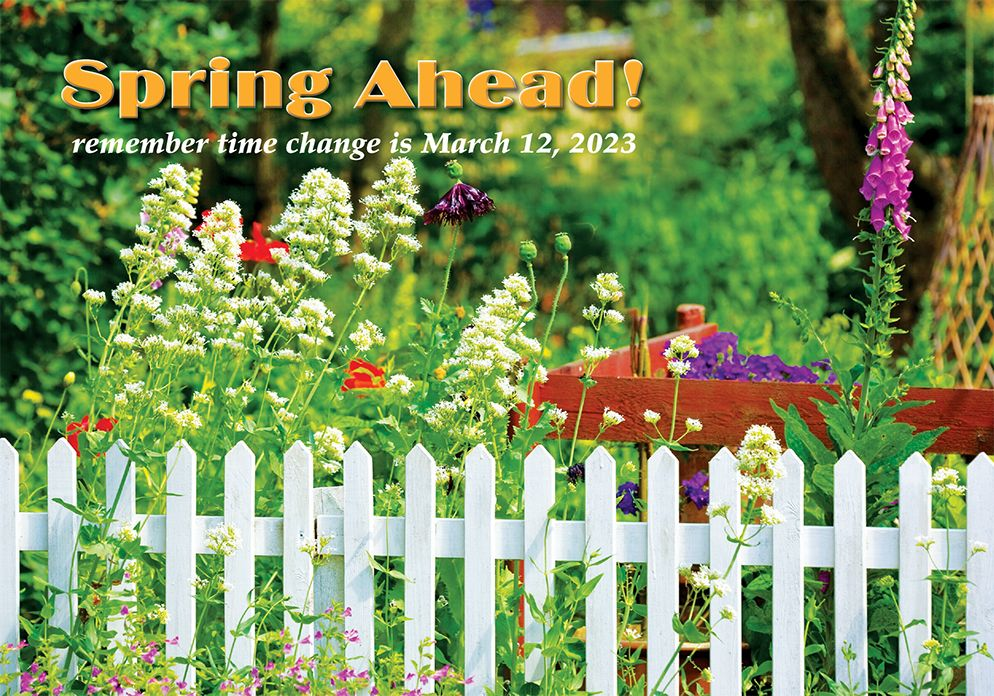 Spring Time Change Postcards: ST Spring Ahead
