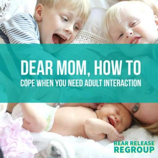 Dear mom, how to cope when you need adult interaction. Lessons from Jesus for moms who struggle with the frustration of the never-ending neediness of kids.