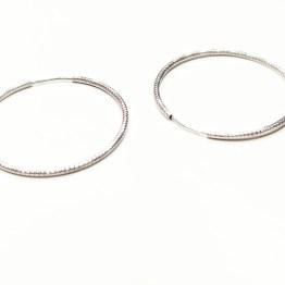 Orecchini cerchio argento 925 satinati, sottili