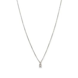 Collana argento 925 mini punto luce zircone quadrato