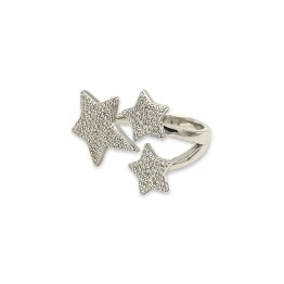 Anello argento 925 tre stelle zirconate