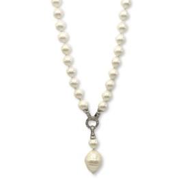 Collana perle con pendente big perla