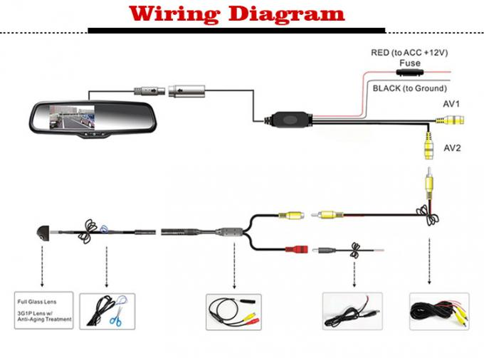 rear view mirror camera wiring diagram