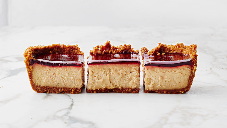 Peanut-Butter-and-Jelly Cheesecake Squares