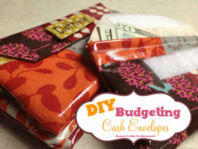 Budgeting Cash Envelopes {Reasons To Skip The Housework}