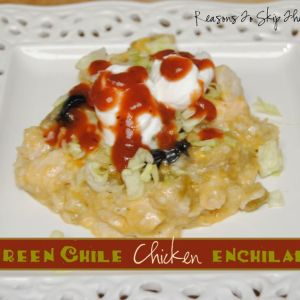 chicken enchiladas {Reasons To Skip The Housework}