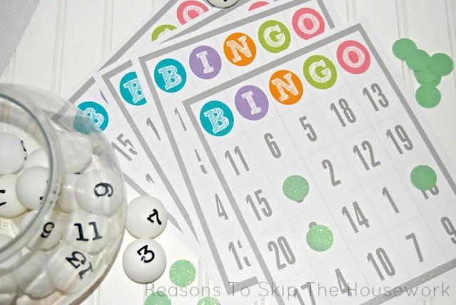 number recognition bingo 3