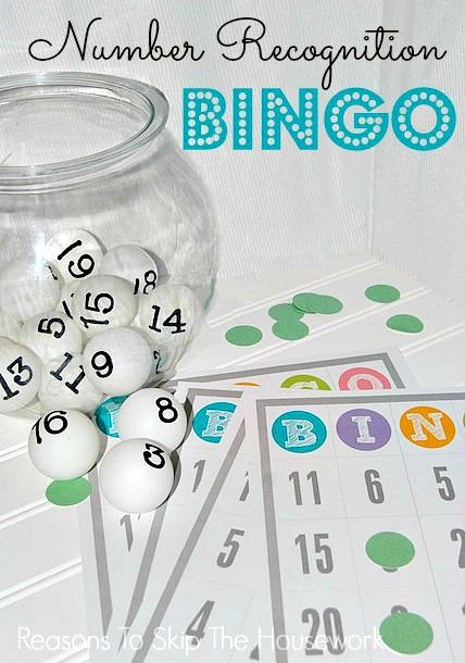 number recognition bingo