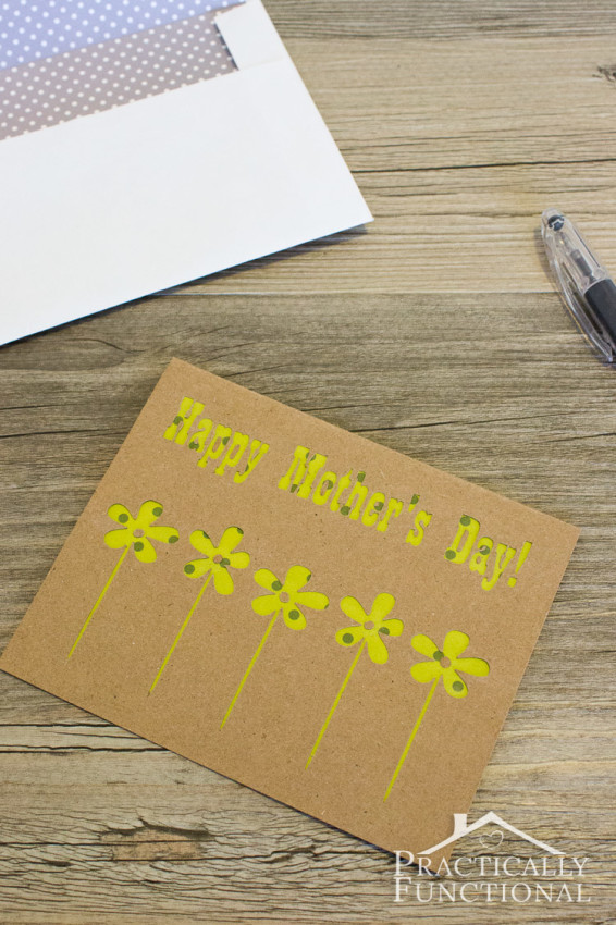 Handmade Mother's Day Card