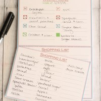 Weekly Menu Plan Notepad