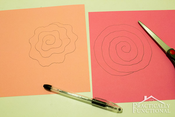Simple Spiral Paper Flowers-3