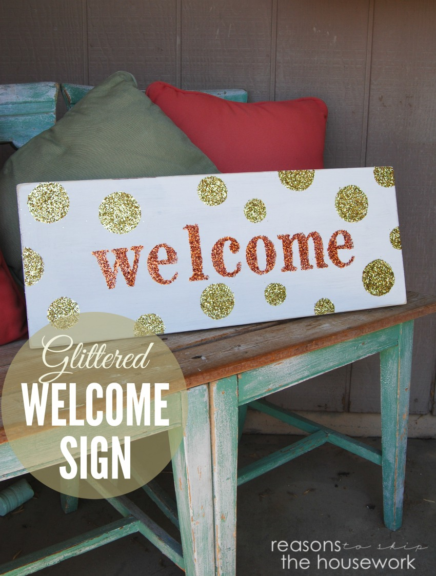 welcome sign lead