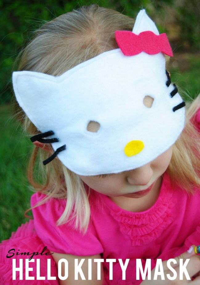 simple hello kitty mask
