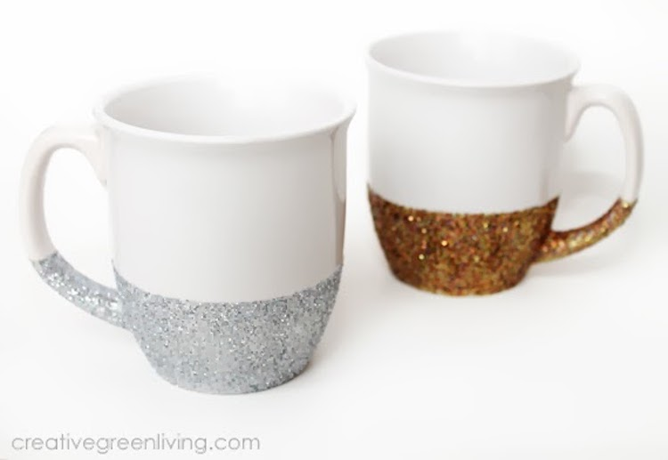 Dishwasher-Safe Glitter Mugs