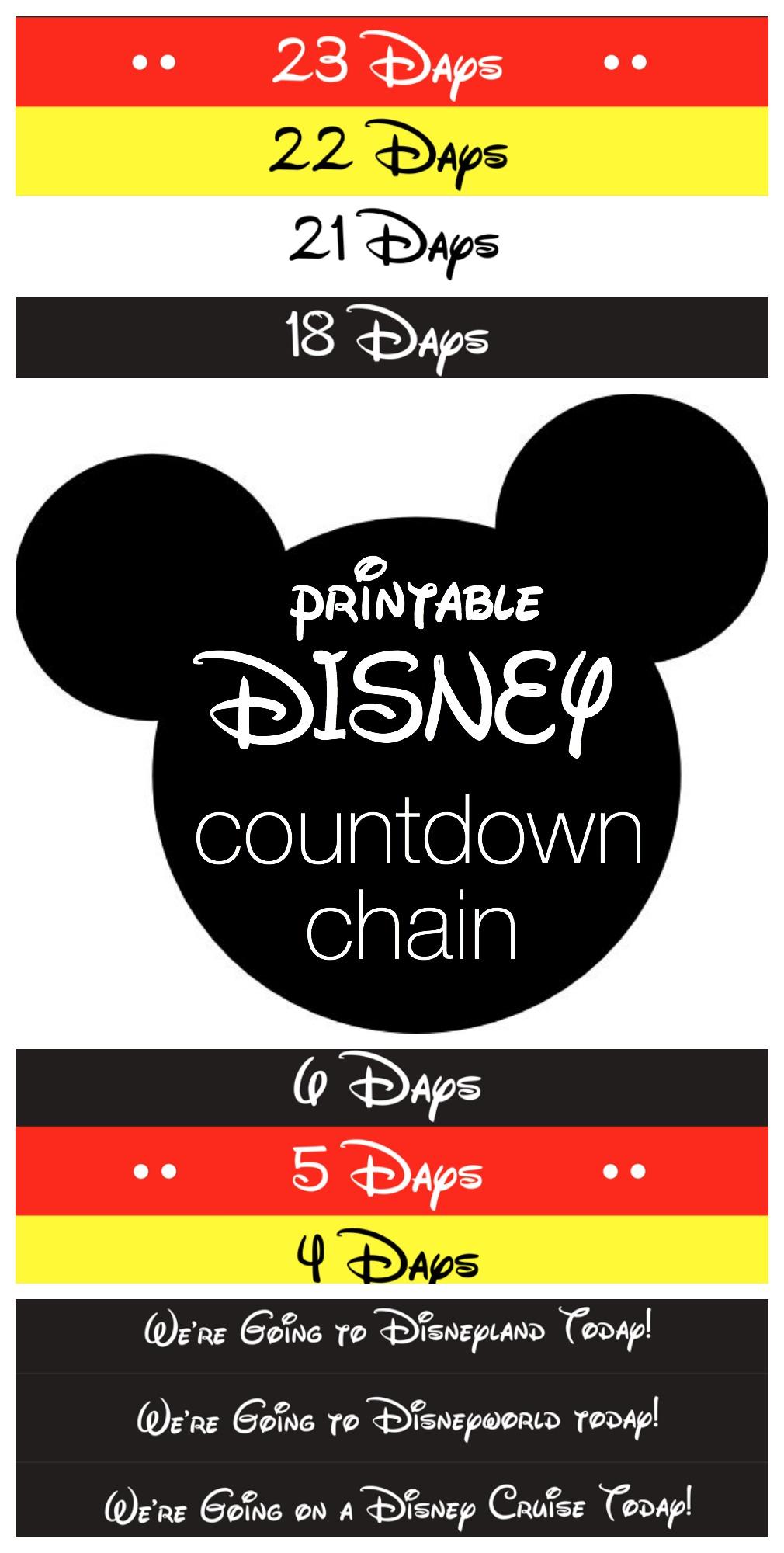 picture relating to Disney Countdown Printable identify Disney Countdown Chain