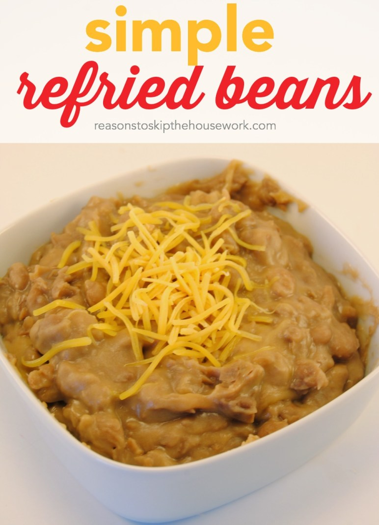 Refried Beans are simple to make and are perfect in burritos or as a layered dip for parties!