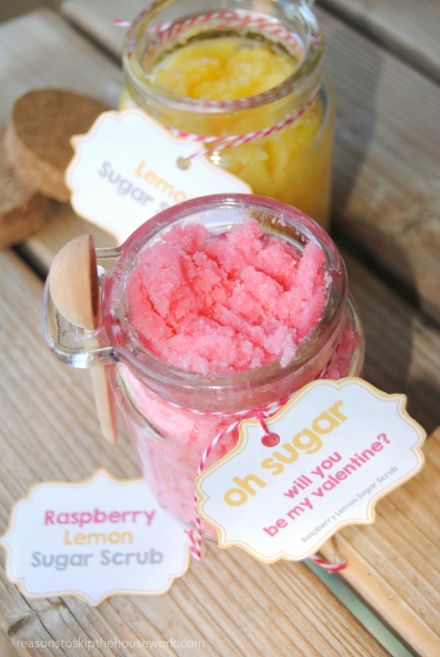 Sugar Scrub Recipes are easier to make than you'd think and the best part is that you can make them with any scent you'd like, so you can personalize them as gifts for those you love. Printable Gift Tags and a simple recipe!