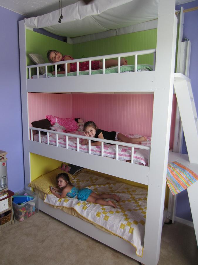 Luxury triple bunks