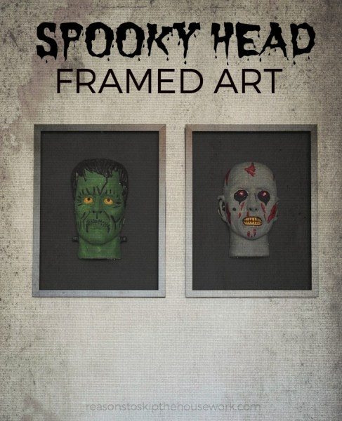 Spooky Head Frames are simple to make and are the perfect creepy Halloween Decor for your home or a Halloween Party!