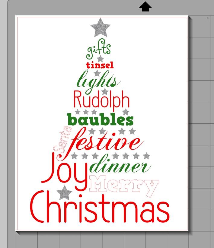 Christmas Word Tree Printable Color