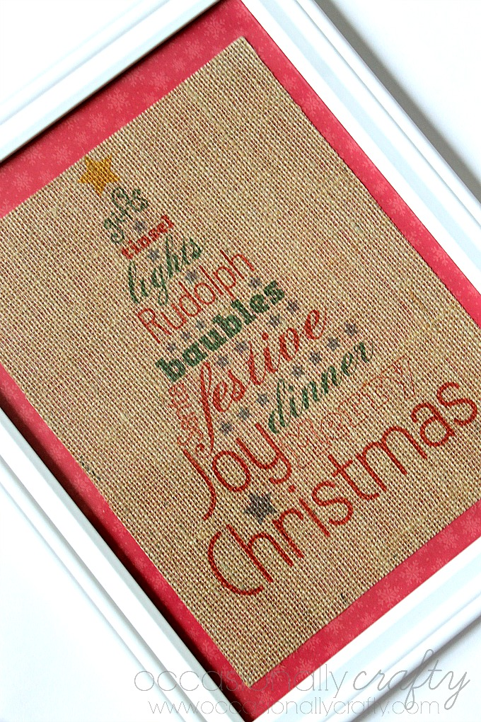 Printed Burlap Christmas Sign