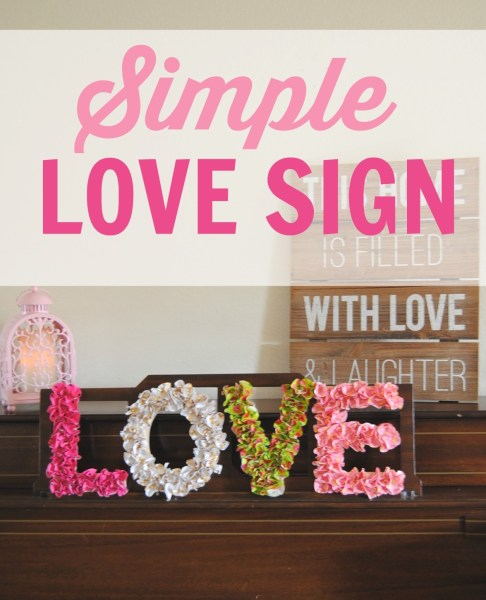 Simple Love Sign