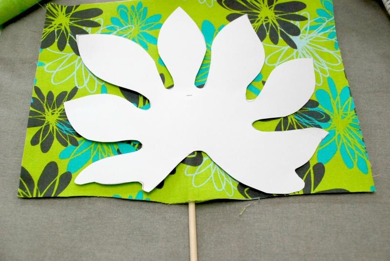 No Sew Fabric Palm Leaf 3