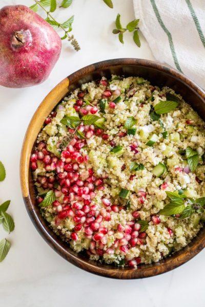 Pomegranate Mint Quinoa Salad