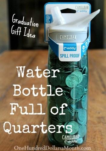 fun graduation gift idea water bottle full of - Graduation Gift Ideas
