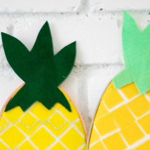 Embroidery Hoop Pineapple
