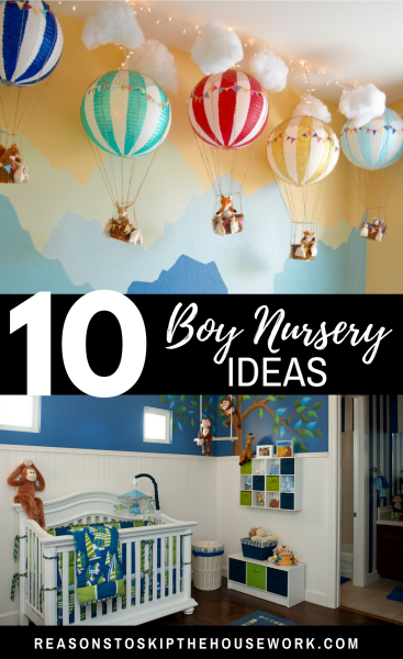 Boy Nursery Ideas: From narrowing down the boy nursery ideas to painting the walls, there are a lot of ways you can uniquely design the room for your new baby.