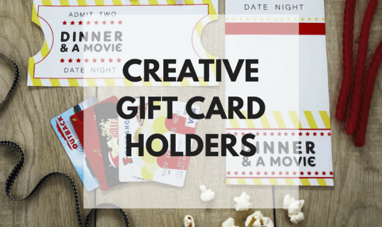 Creative Gift Card Holders: Gift Cards can sometimes be a boring thing to give but a great thing to receive. So why not spice up the way you give them!